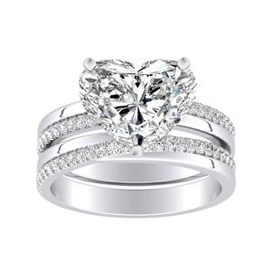 ALISON Classic Diamond Wedding Ring Set In 14K White Gold