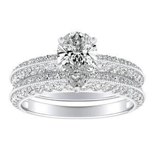 ZOEY Diamond Wedding Ring Set In 14K White Gold