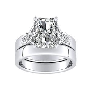 GIOVANNA Vintage Diamond Wedding Ring Set In 14K White Gold