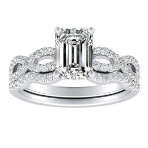CARINA Diamond Wedding Ring Set In 14K White Gold