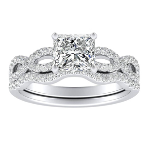 CARINA Diamond Wedding Ring Set In 14K White Gold