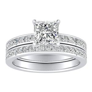 JOAN Classic Diamond Wedding Ring Set In 14K White Gold