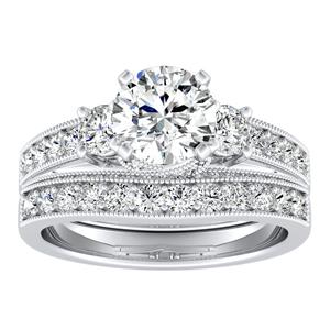 SOPHIE Diamond Wedding Ring Set In 14K White Gold