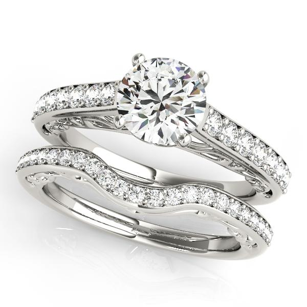 wedding rings com engagement ring with wedding ring in 14k 1021