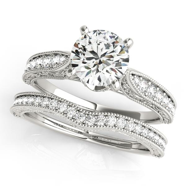 Layla Diamond Engagement Ring with Wedding Ring in 14K White Gold