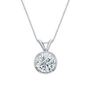Design your own diamond necklace diamond wish bezel diamond solitaire pendant in 14k white gold aloadofball Choice Image