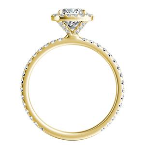 SKYLAR Halo Diamond Engagement Ring In 14K Yellow Gold