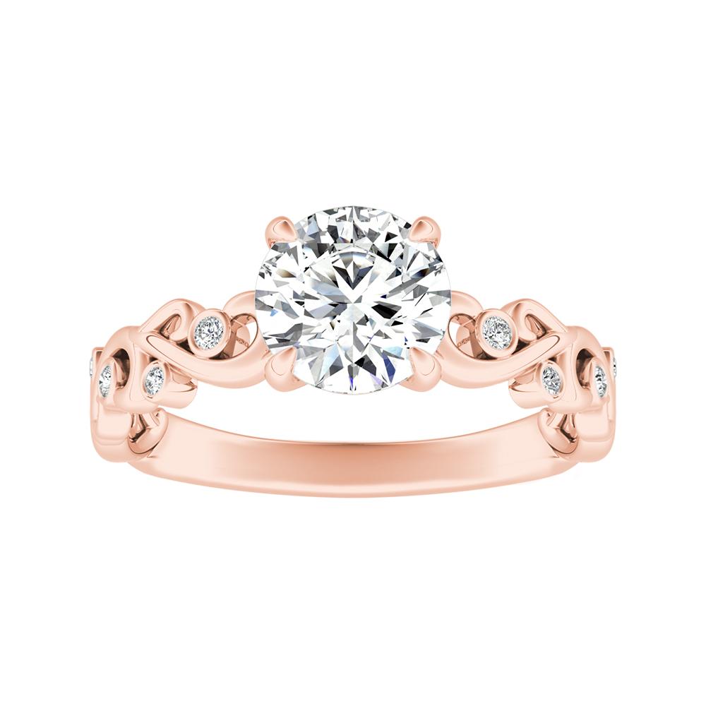 DAISY Diamond Engagement Ring In 14K Rose Gold