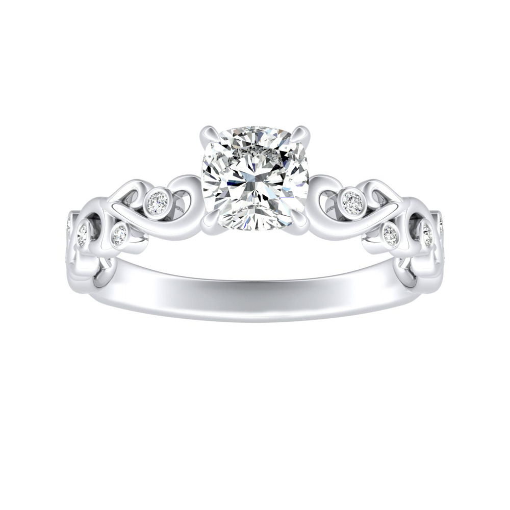DAISY Diamond Engagement Ring In 14K White Gold