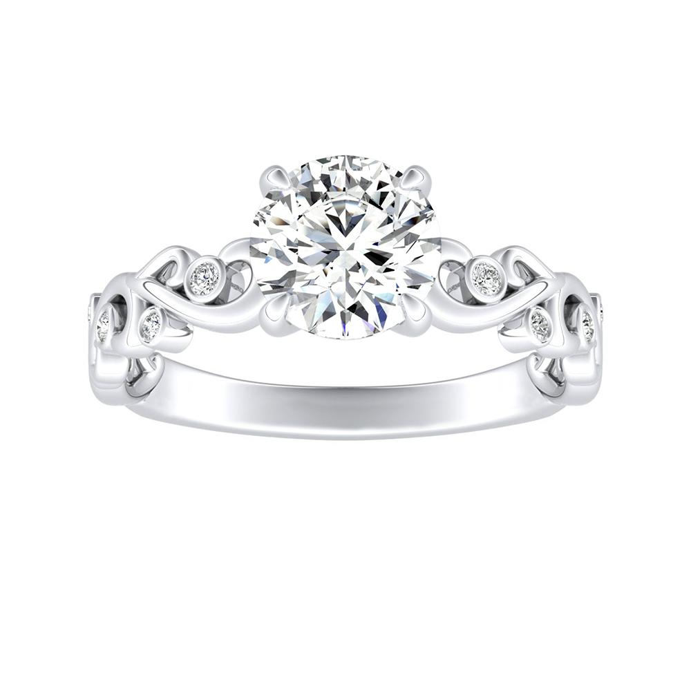 DAISY Diamond Engagement Ring In 14K White Gold