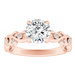 DAISY Diamond Engagement Ring In 14K Rose Gold