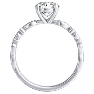 DAISY Diamond Engagement Ring In 14K White Gold With 1.00ct. Round Diamond