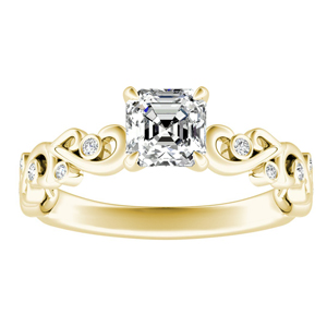 DAISY Diamond Engagement Ring In 14K Yellow Gold
