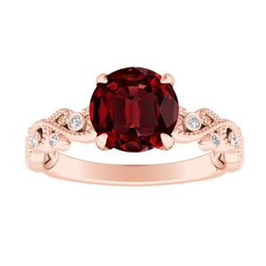 LILA Ruby Engagement Ring In 14K Rose Gold With 0.50 Carat Round Stone