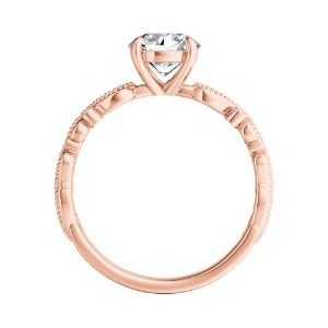 LILA Floral Diamond Engagement Ring In 14K Rose Gold