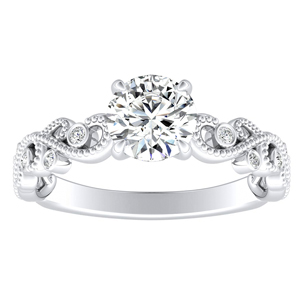 LILA Moissanite Engagement Ring In 14K White Gold With 0.50 Carat Round Stone