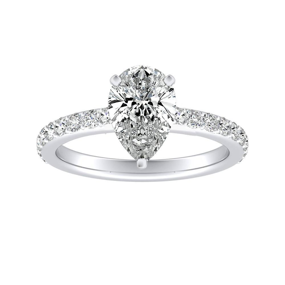 ELLA Classic Diamond Engagement Ring In 14K White Gold
