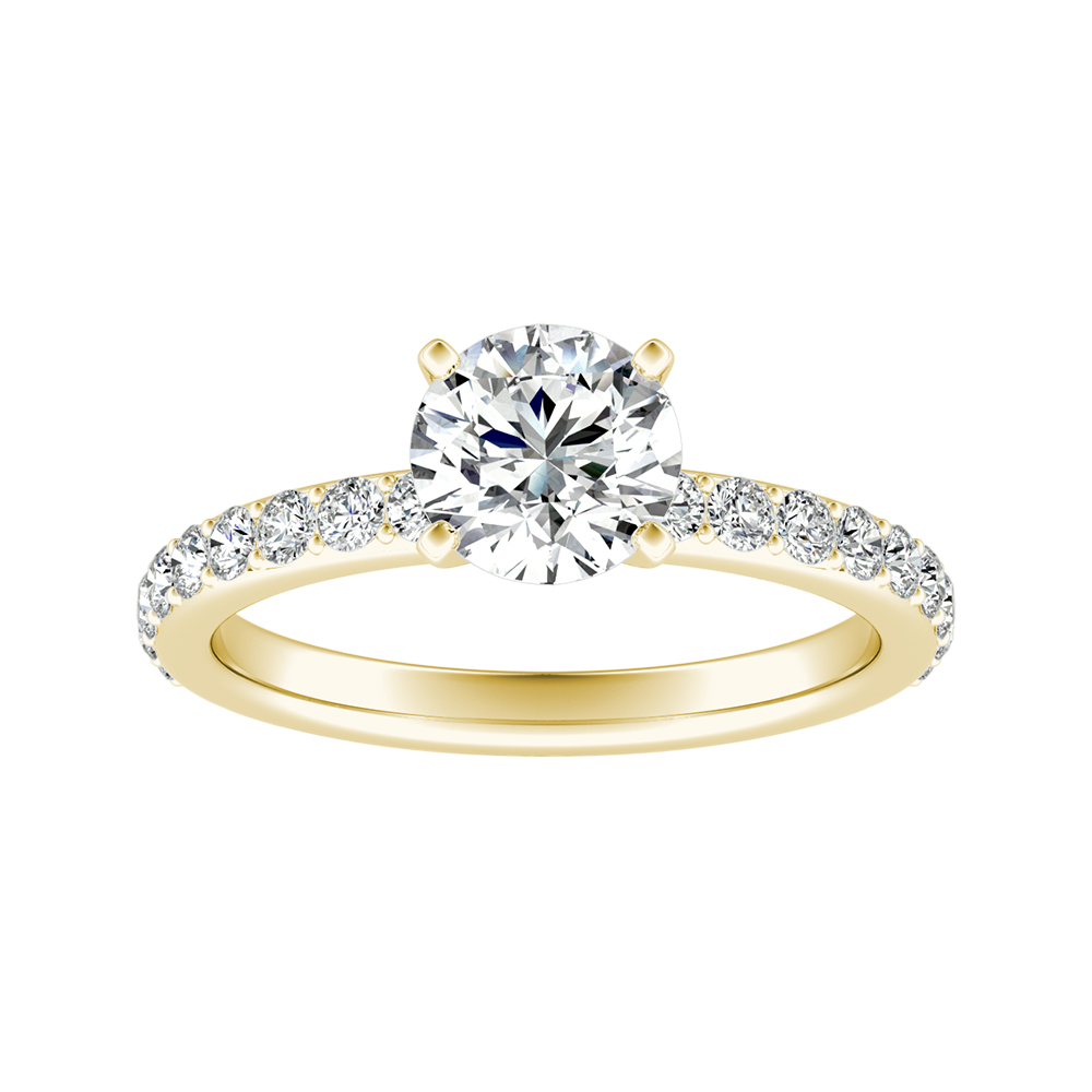 ELLA Classic Diamond Engagement Ring In 14K Yellow Gold