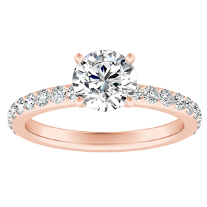 ELLA Classic Diamond Engagement Ring In 14K Rose Gold