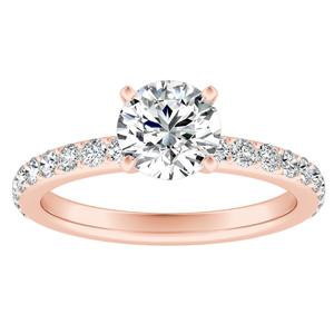 ELLA Classic Diamond Engagement Ring In 14K Rose Gold