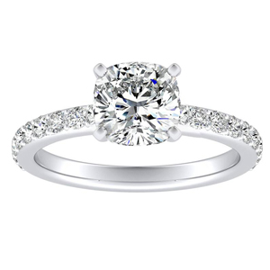 ELLA Classic Diamond Engagement Ring In 14K White Gold