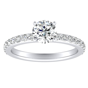 ELLA Classic Diamond Engagement Ring In 14K White Gold With 0.50ct. Round Diamond