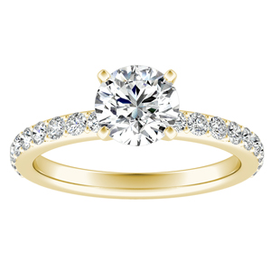 ELLA Classic Diamond Engagement Ring In 14K Yellow Gold