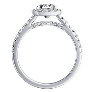 MERILYN Halo Diamond Engagement Ring In 14K White Gold