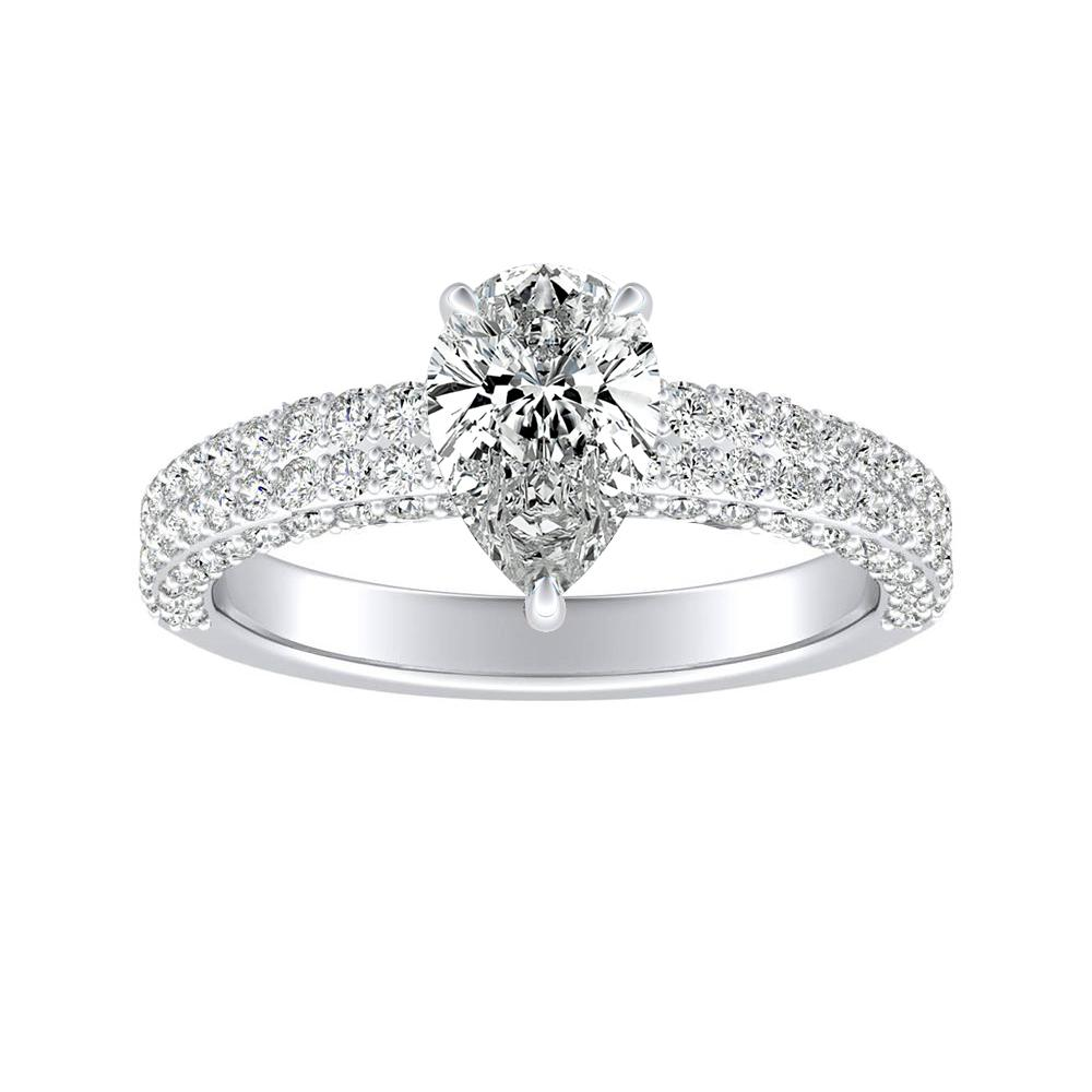 ALEXIA Classic Diamond Engagement Ring In 14K White Gold