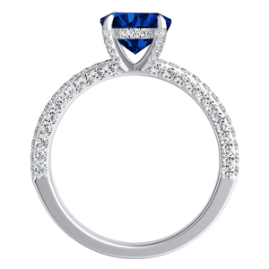 ALEXIA  Classic  Blue  Sapphire  Engagement  Ring  In  14K  White  Gold  With  0.50  Carat  Pear  Stone