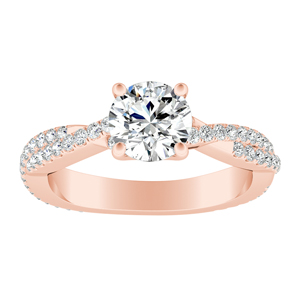 CALLIE Twisted Diamond Engagement Ring In 14K Rose Gold