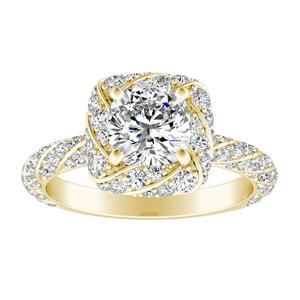 VIVIEN Halo Diamond Engagement Ring In 14K Yellow Gold