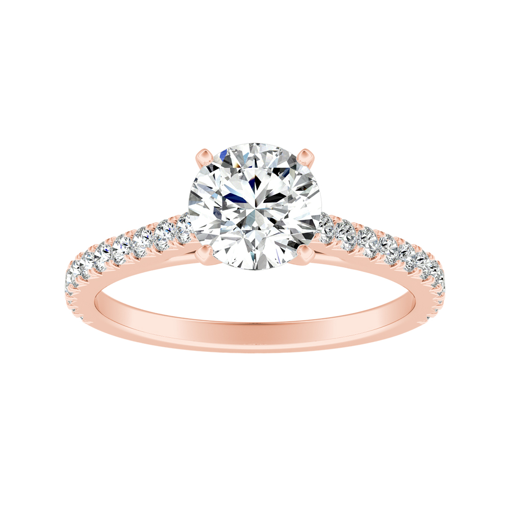 LIV Classic Diamond Engagement Ring In 14K Rose Gold