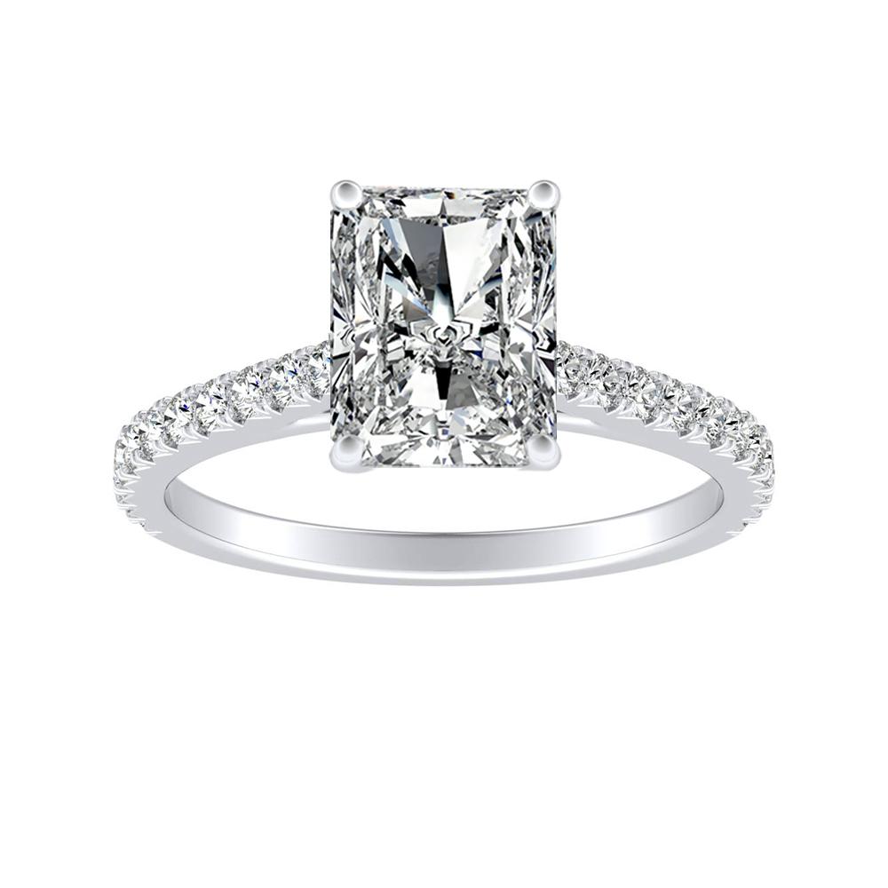 LIV Classic Diamond Engagement Ring In 14K White Gold