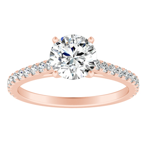 LIV  Classic  Moissanite  Engagement  Ring  In  14K  Rose  Gold  With  0.50  Carat  Round  Stone