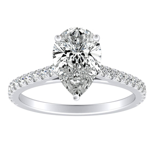 LIV Classic Diamond Engagement Ring In 14K White Gold