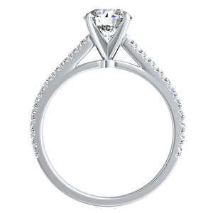 LIV Classic Diamond Wedding Ring Set In 14K White Gold With 0.50ct. Round Diamond