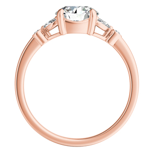 PRIMROSE  Moissanite  Engagement  Ring  In  14K  Rose  Gold  With  0.50  Carat  Round  Stone