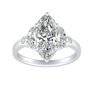 PRIMROSE Diamond Engagement Ring In 14K White Gold