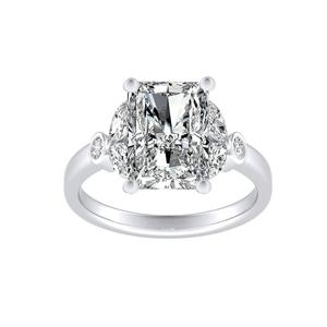 PRIMROSE Diamond Engagement Ring In 14K White Gold