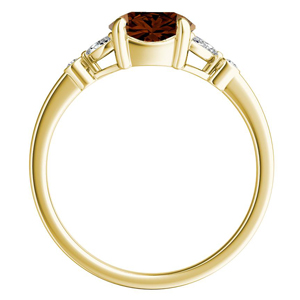 PRIMROSE  Brown  Diamond  Engagement  Ring  In  14K  Yellow  Gold  With  0.50  Carat  Round  Diamond