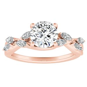 BLOSSOM Diamond Engagement Ring In 14K Rose Gold