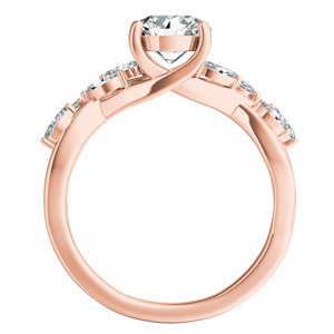 BLOSSOM  Moissanite  Engagement  Ring  In  14K  Rose  Gold  With  0.50  Carat  Round  Stone