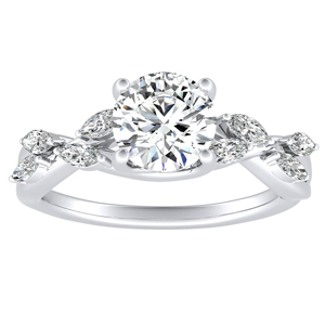 BLOSSOM Diamond Engagement Ring In 14K White Gold
