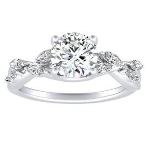 BLOSSOM Diamond Engagement Ring In 14K White Gold