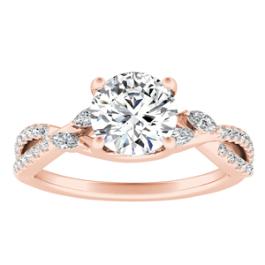 MEADOW  Moissanite  Engagement  Ring  In  14K  Rose  Gold  With  0.50  Carat  Round  Stone