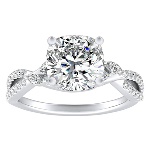 MEADOW Diamond Engagement Ring In 14K White Gold