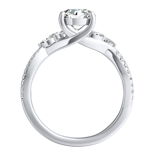 MEADOW  Moissanite  Wedding  Ring  Set  In  14K  White  Gold  With  0.50  Carat  Round  Stone