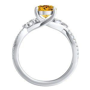 MEADOW  Yellow  Diamond  Engagement  Ring  In  14K  White  Gold  With  0.50  Carat  Round  Diamond