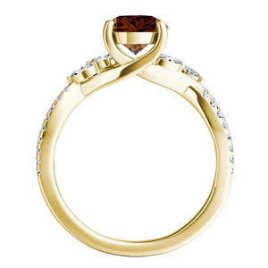 MEADOW  Brown  Diamond  Engagement  Ring  In  14K  Yellow  Gold  With  0.50  Carat  Round  Diamond